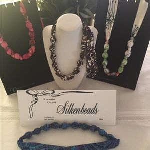 Accessorize with Silkenbeads. A necklace/scarf